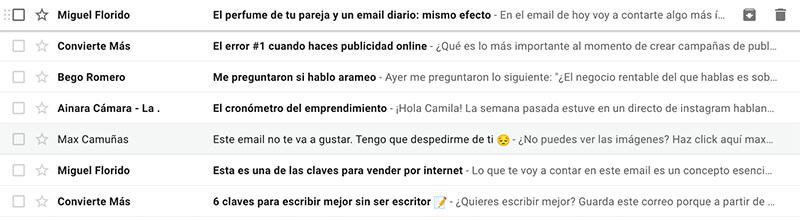 como redactar un buen asunto para el email marketing